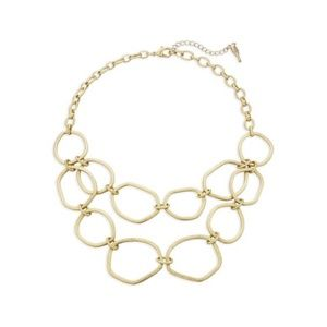 Chloe + Isabel Modern Links Two-Row Necklace Gold
